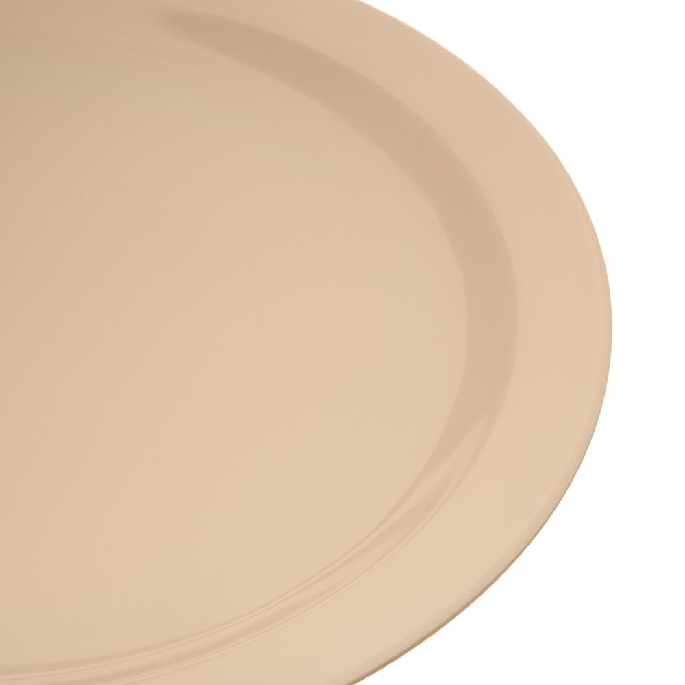 "Carlisle 4350025 10.25"" Round Dinner Plate w/ Reinforced Rim, Melamine, Tan"