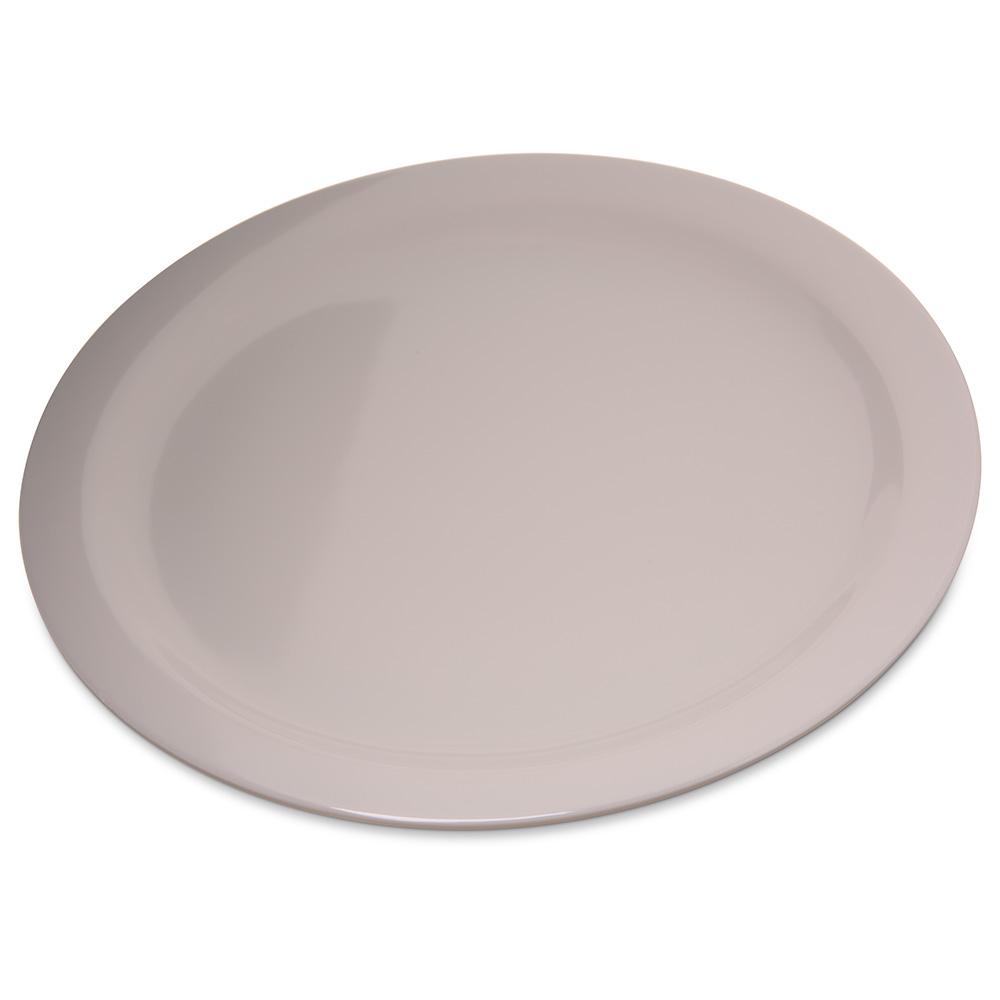 "Carlisle 4350042 10.25"" Round Dinner Plate w/ Reinforced Rim, Melamine, Bone"