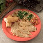 "Carlisle 4350052 10-1/4"" Dallas Ware Dinner Plate - Melamine, Sunset Orange"