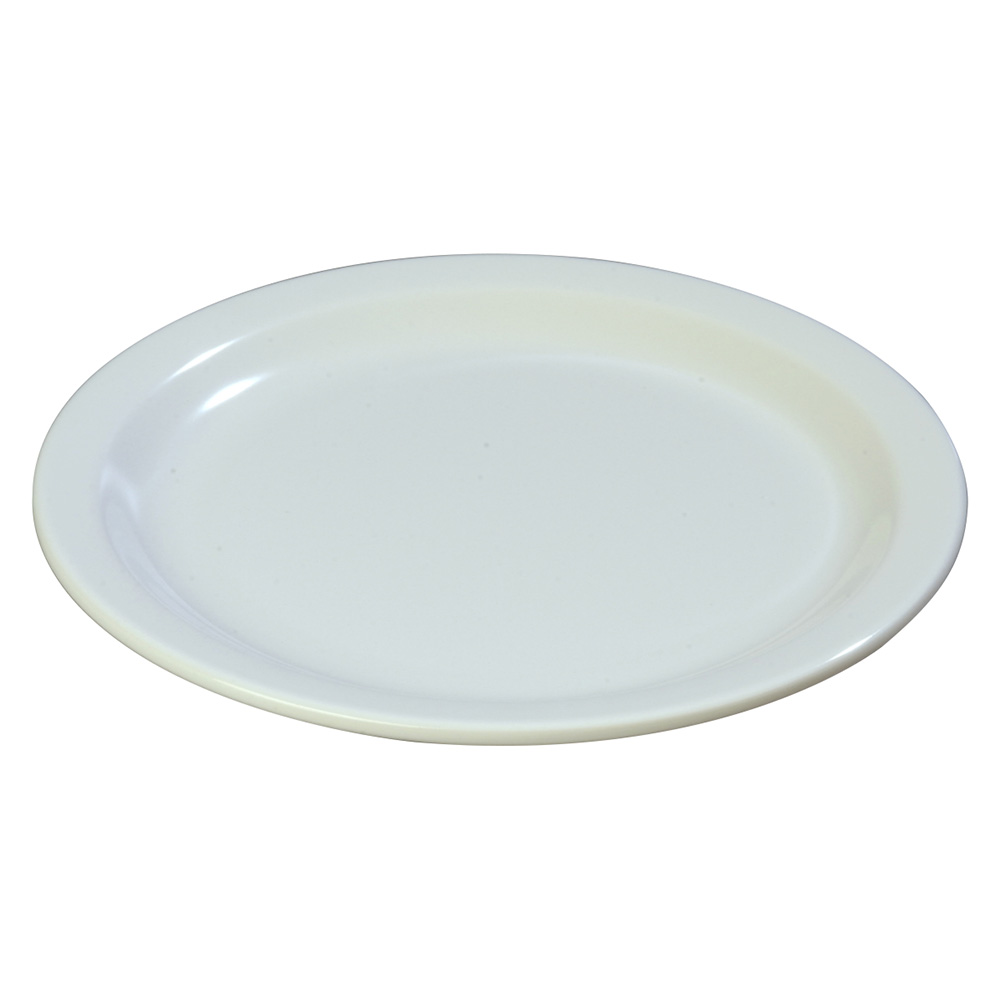 "Carlisle 4350102 9"" Dallas Ware Dinner Plate - Melamine, White"