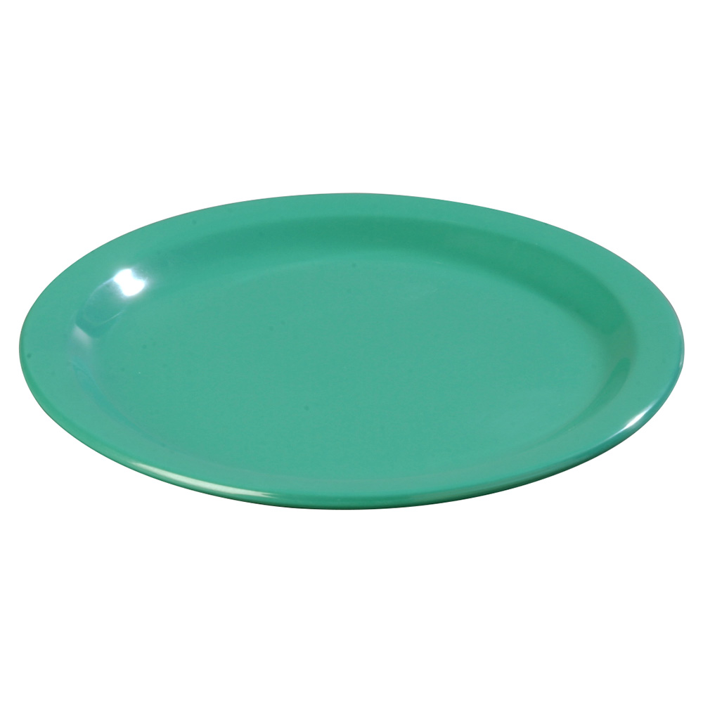 "Carlisle 4350109 9"" Dallas Ware Dinner Plate - Melamine, Meadow Green"