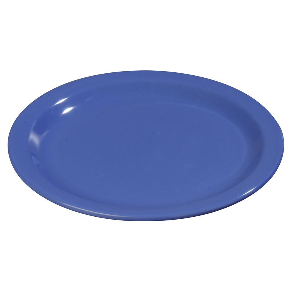"Carlisle 4350114 9"" Dallas Ware Dinner Plate - Melamine, Blue"