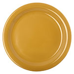 "Carlisle 4350122 9"" Dallas Ware Dinner Plate - Melamine, Honey Yellow"