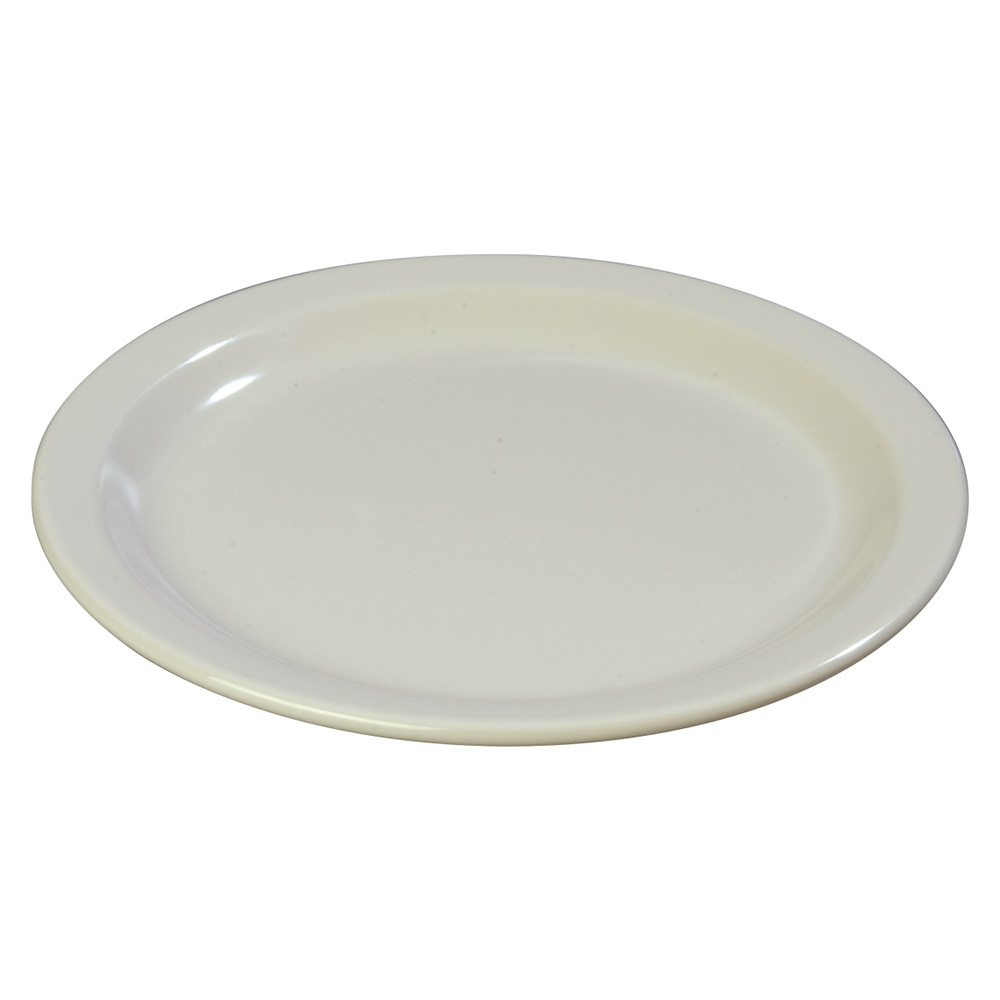 "Carlisle 4350142 9"" Dallas Ware Dinner Plate - Melamine, Bone"