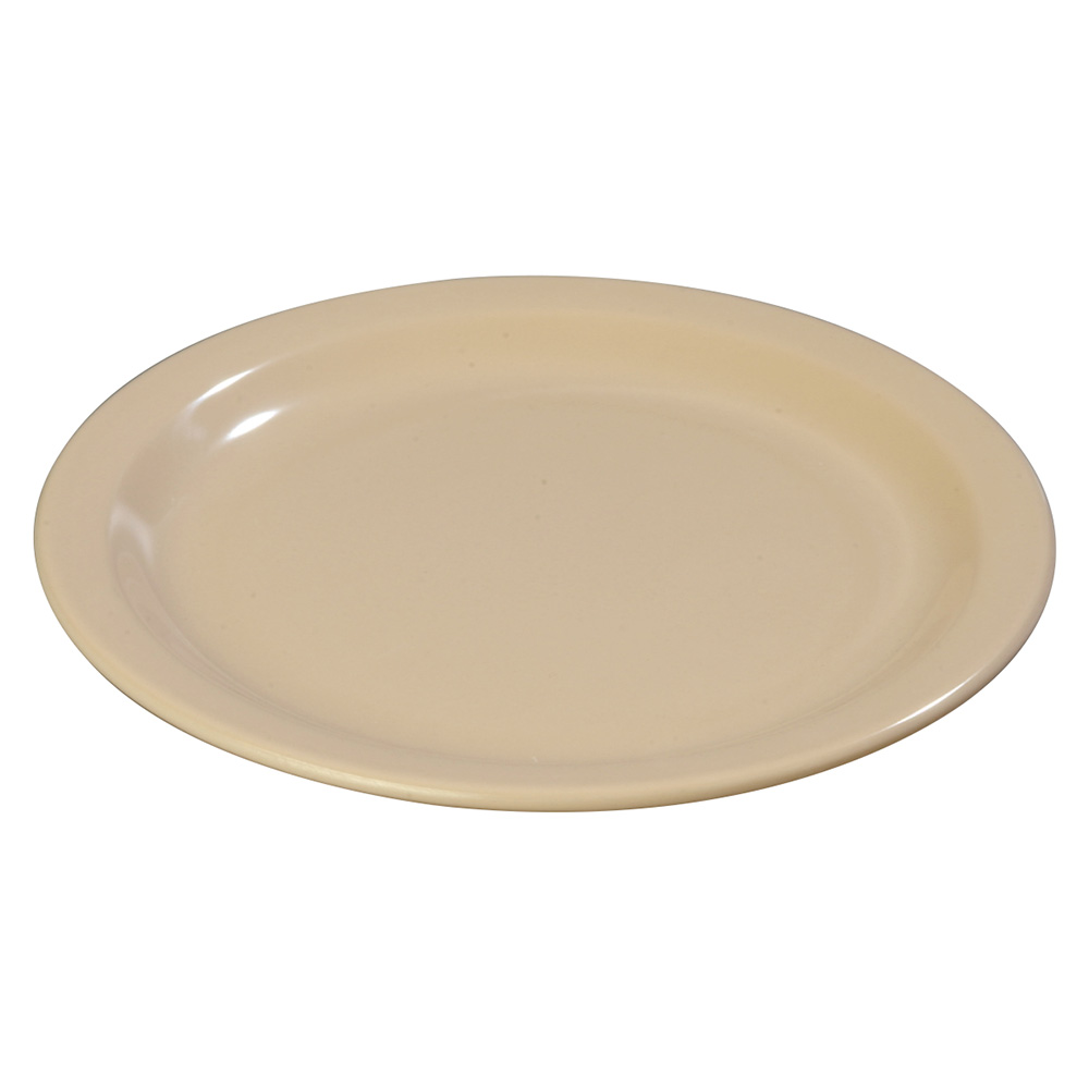 "Carlisle 43502-825 8"" Dallas Ware Luncheon Plate - Tan"