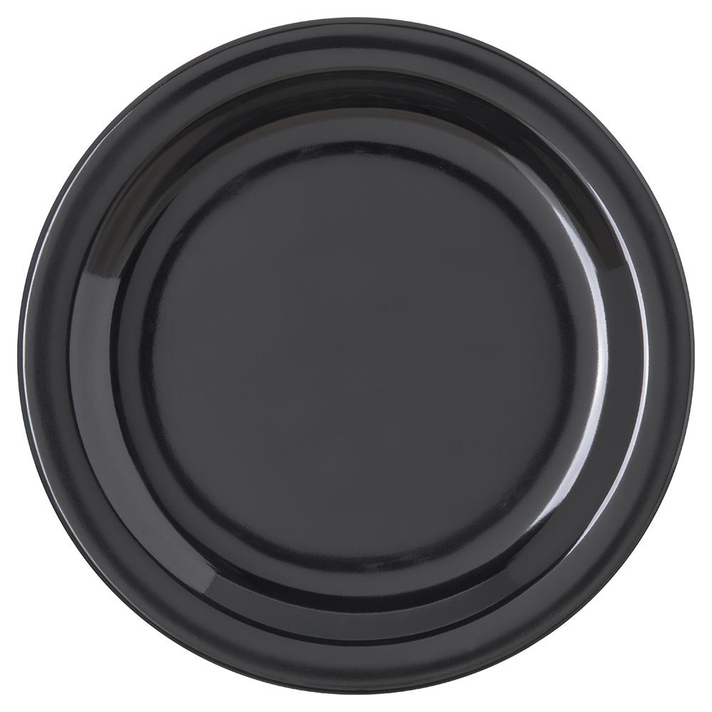 "Carlisle 4350303 7-1/4"" Dallas Ware Salad Plate - Melamine, Black"
