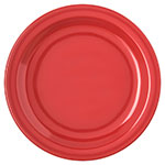 "Carlisle 4350305 7-1/4"" Dallas Ware Salad Plate - Melamine, Red"