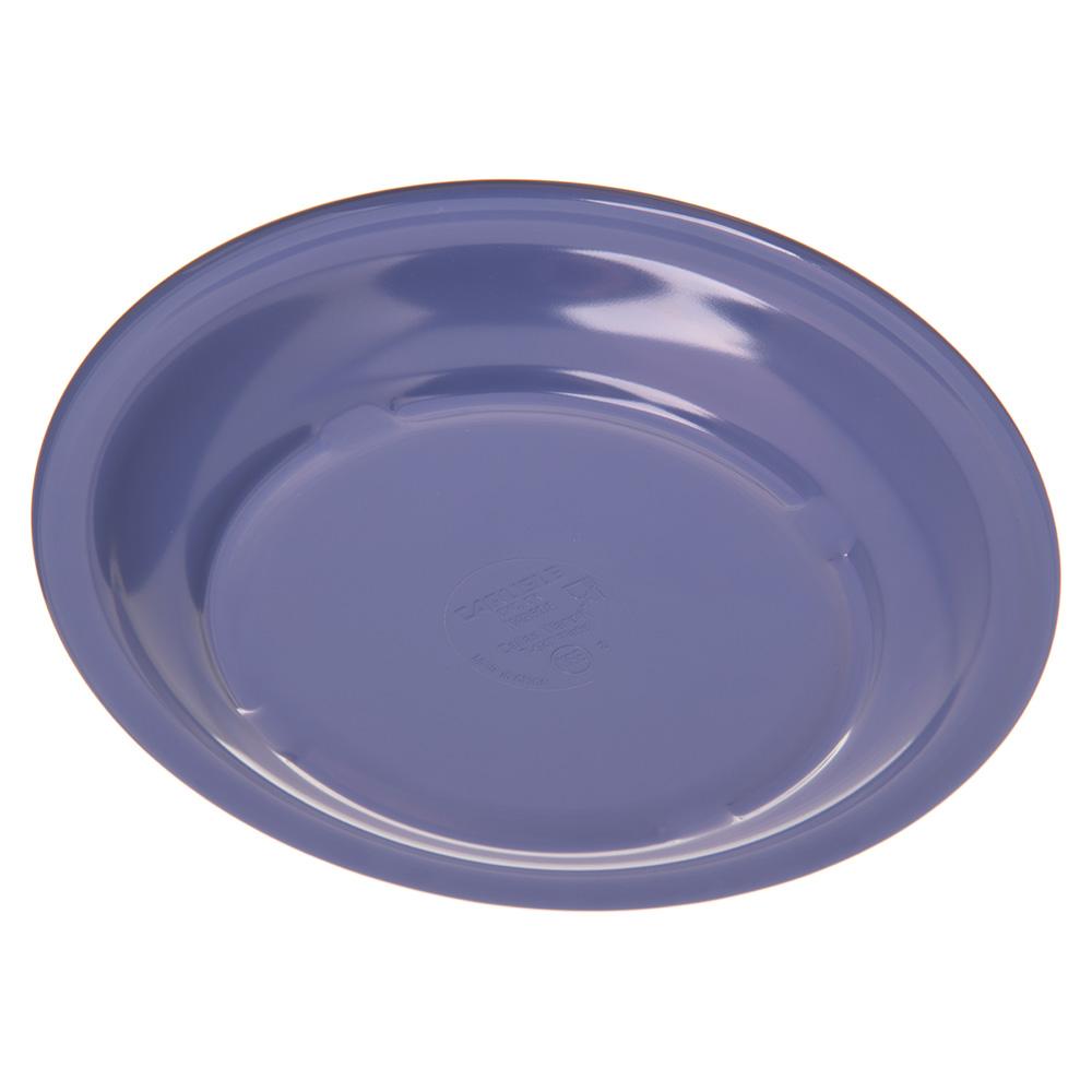"Carlisle 4350314 7.25"" Round Salad Plate w/ Reinforced Rim, Melamine, Ocean Blue"