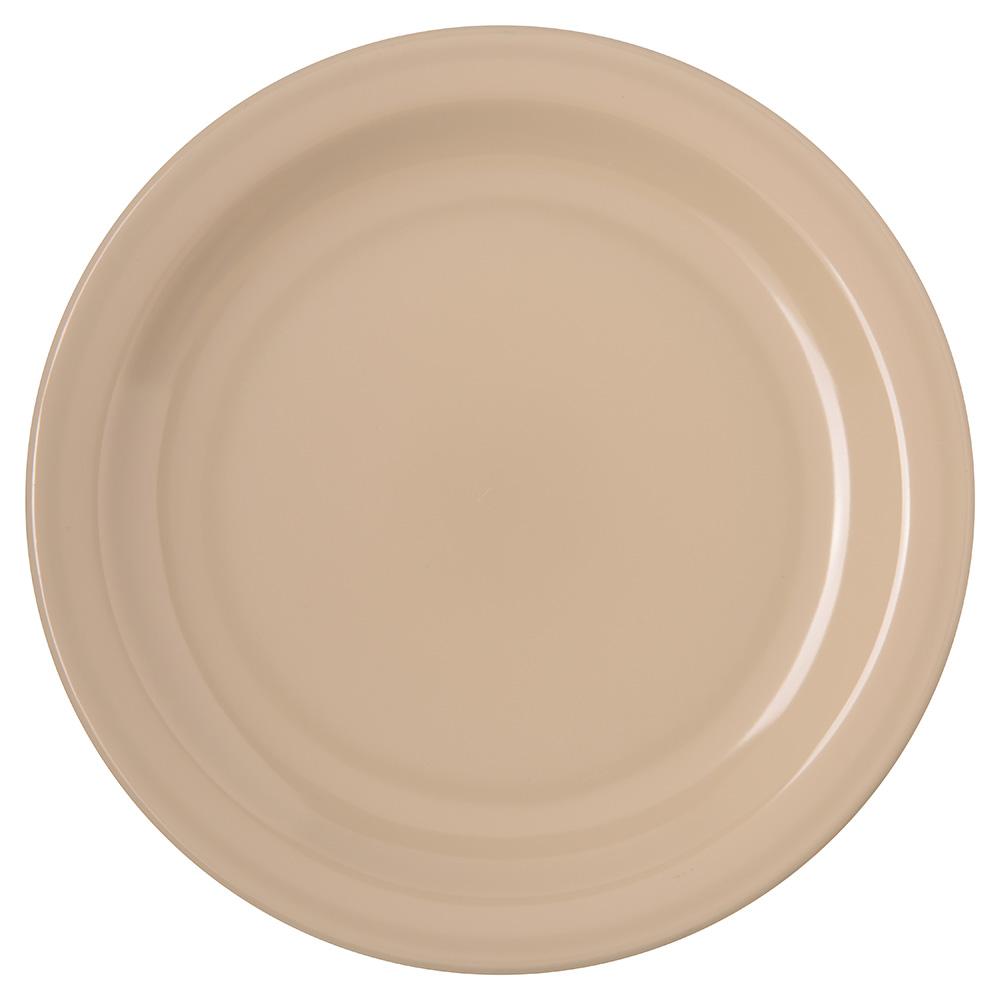 "Carlisle 4350325 7-1/4"" Dallas Ware Salad Plate - Melamine, Tan"