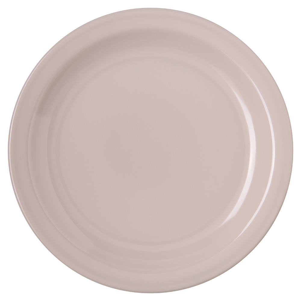 "Carlisle 4350342 7-1/4"" Dallas Ware Salad Plate - Melamine, Bone"