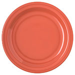 "Carlisle 4350352 7-1/4"" Dallas Ware Salad Plate - Melamine, Sunset Orange"