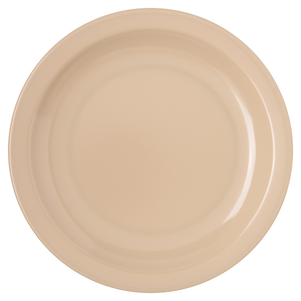 "Carlisle 4350425 6-1/2"" Dallas Ware Pie Plate - Melamine, Tan"