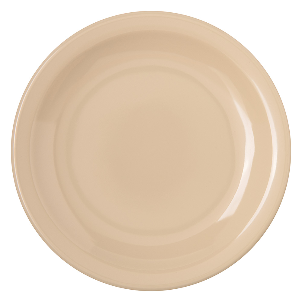 "Carlisle 4350525 5-5/8"" Dallas Ware Bread/Butter Plate - Melamine, Tan"