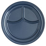 "Carlisle 4351435 9-3/4"" Dallas Ware (3)Compartment Plate - Melamine, Cafe Blue"