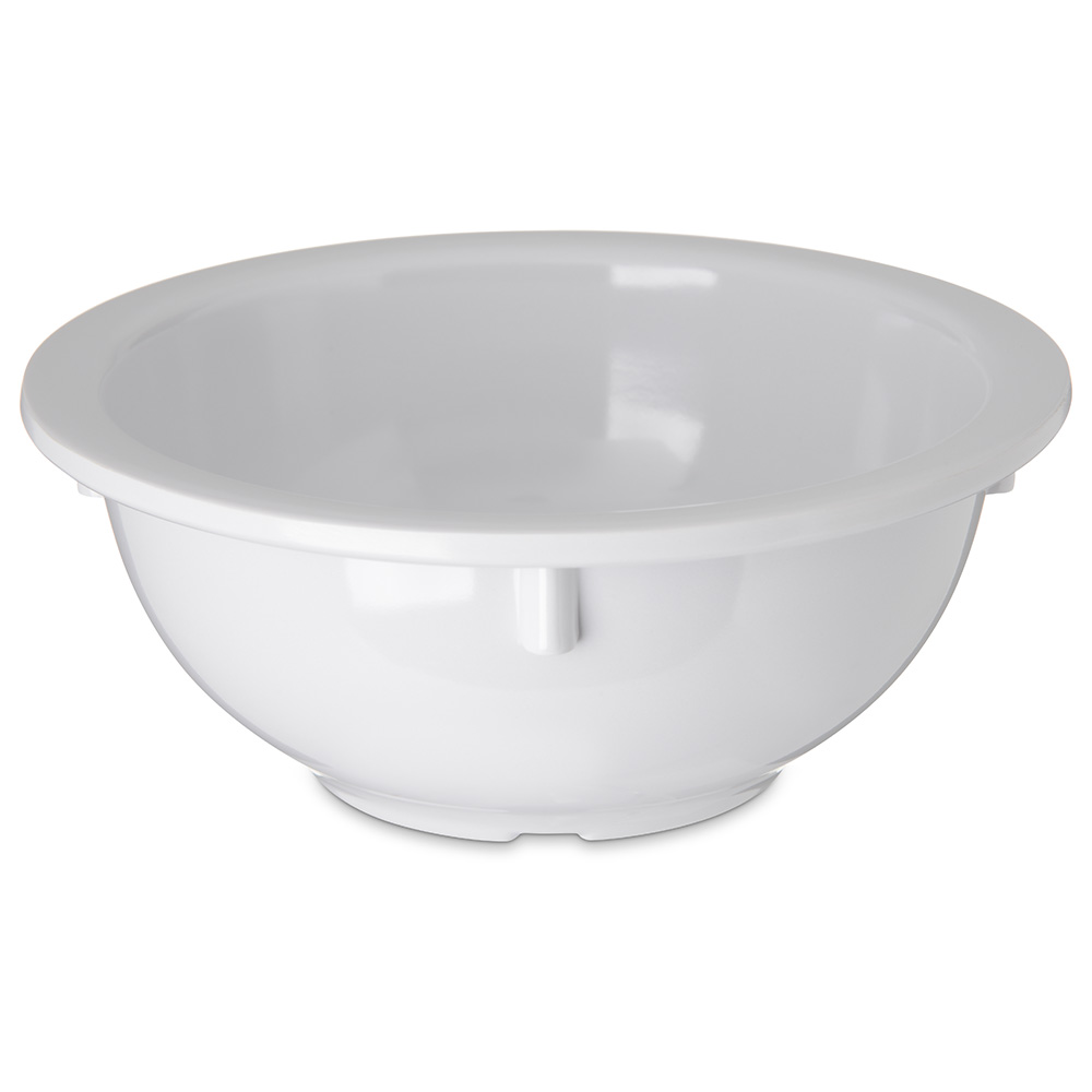 Carlisle 4352202 14-oz Dallas Ware Rim Nappie Bowl - Melamine, White