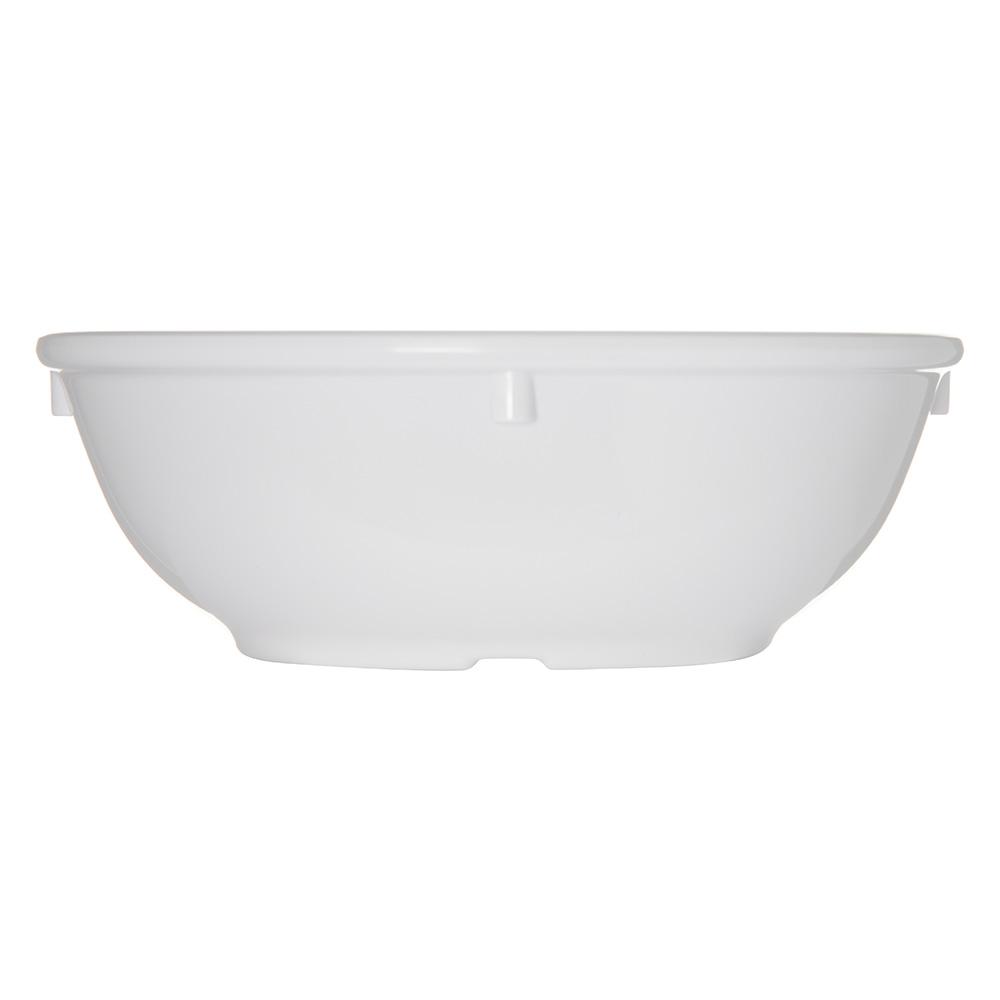 """Carlisle 4352502 5.25"""" Round Nappie Bowl w/ 13-oz Capacity, Melamine, White"""