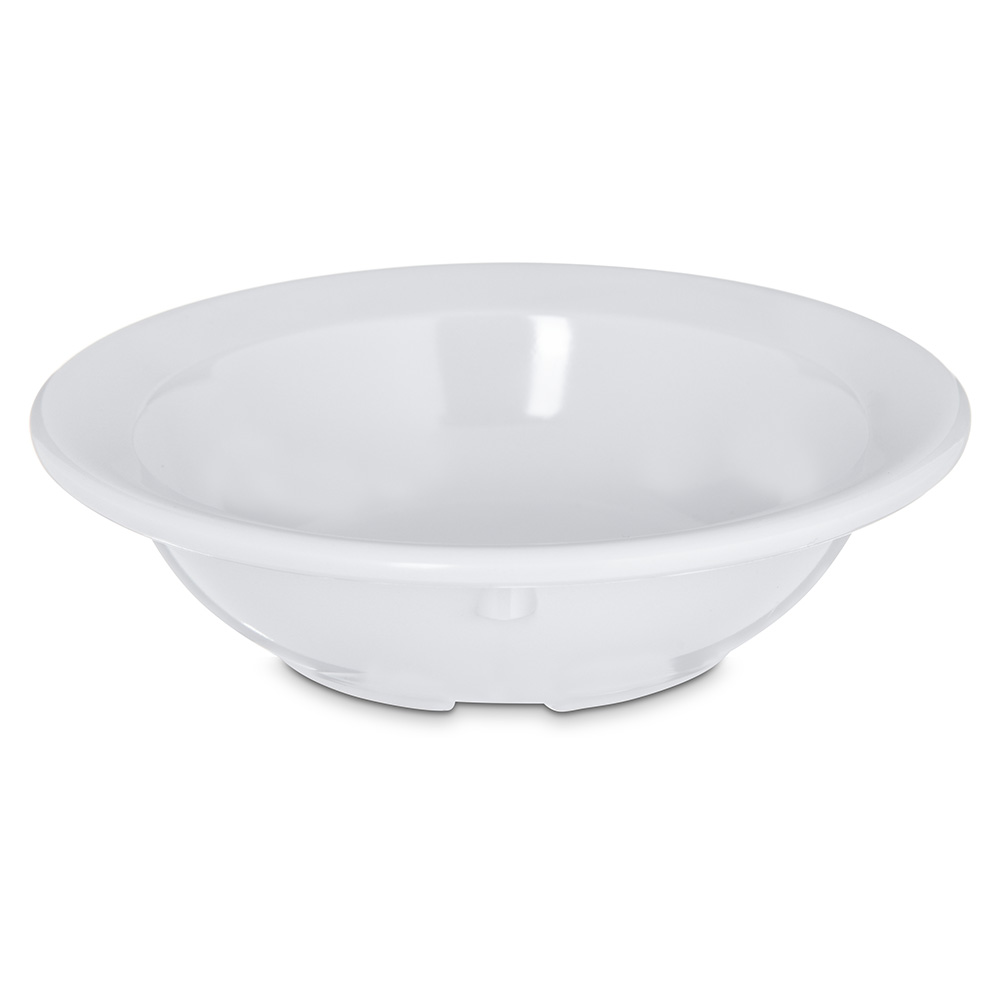 "Carlisle 4353202 4.125"" Round Fruit Bowl w/ 3.5-oz Capacity, Melamine, White"