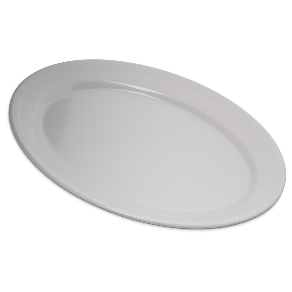 """Carlisle 4356002 Dallas Ware Oval Platter - 12x8-1/2"""" Melamine, White"""