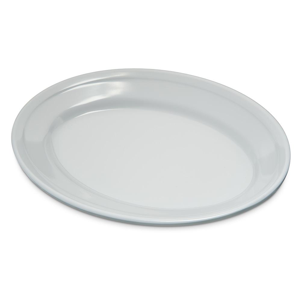 """Carlisle 4356302 Dallas Ware Oval Platter - 9-1/4x6-1/4"""" Melamine, White"""