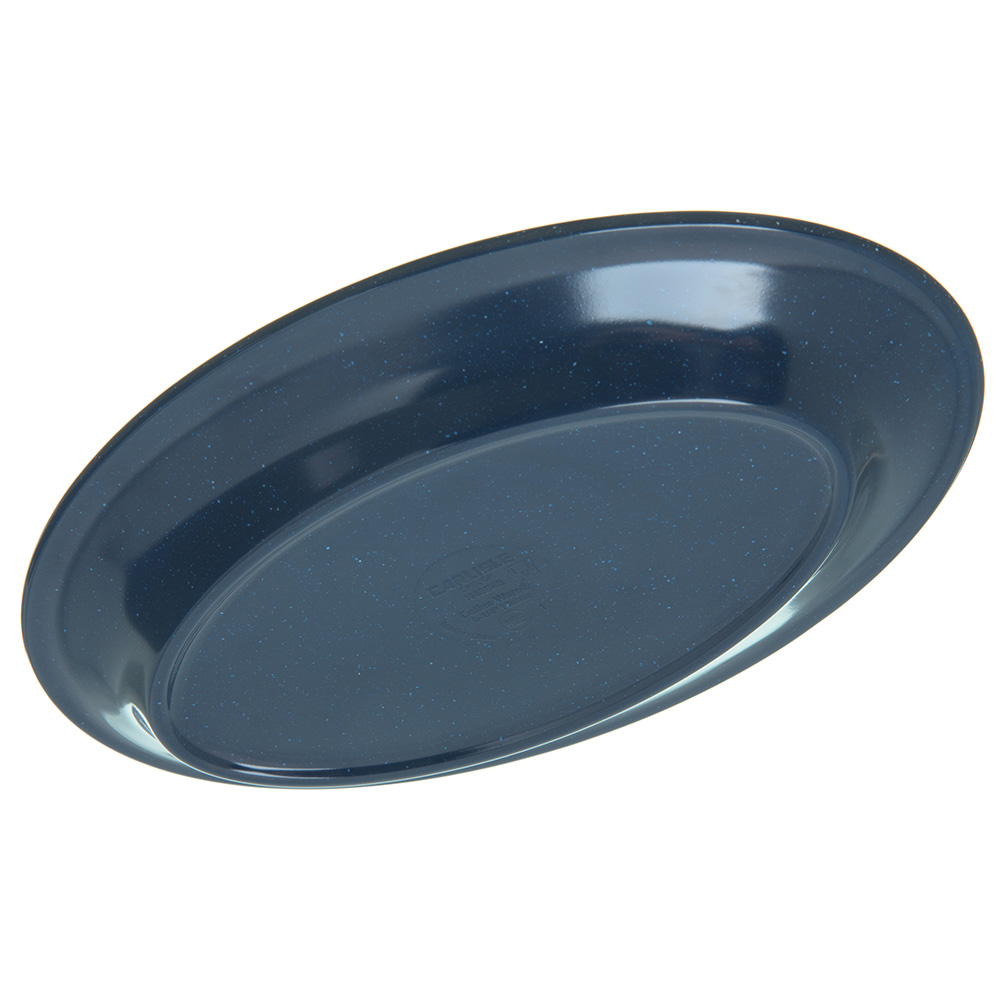 "Carlisle 4356335 Oval Platter w/ Reinforced Rim, 9.25"" x 6.25"", Melamine, Cafe Blue"