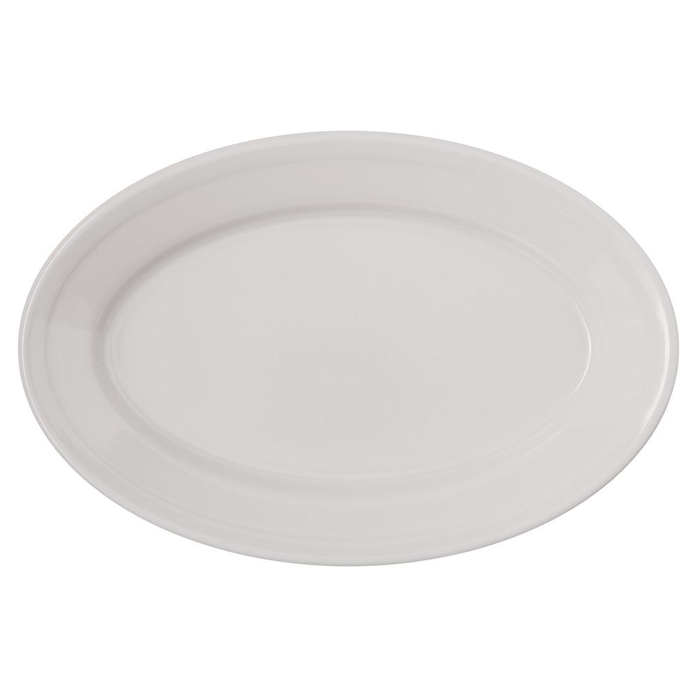 "Carlisle 4356342 Oval Platter w/ Reinforced Rim, 9.25"" x 6.25"", Melamine, Bone"