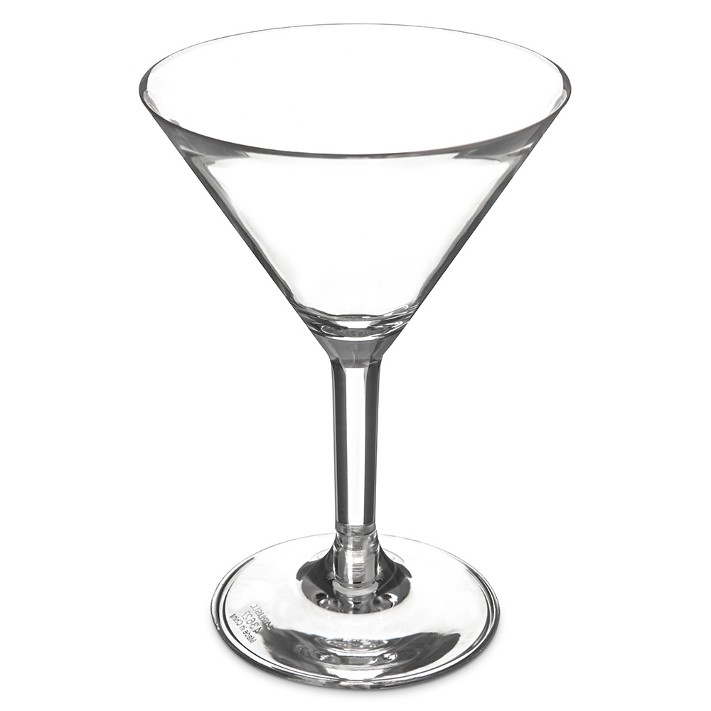 Carlisle 4362707 8-oz Liberty Martini Glass - Polycarbonate, Clear