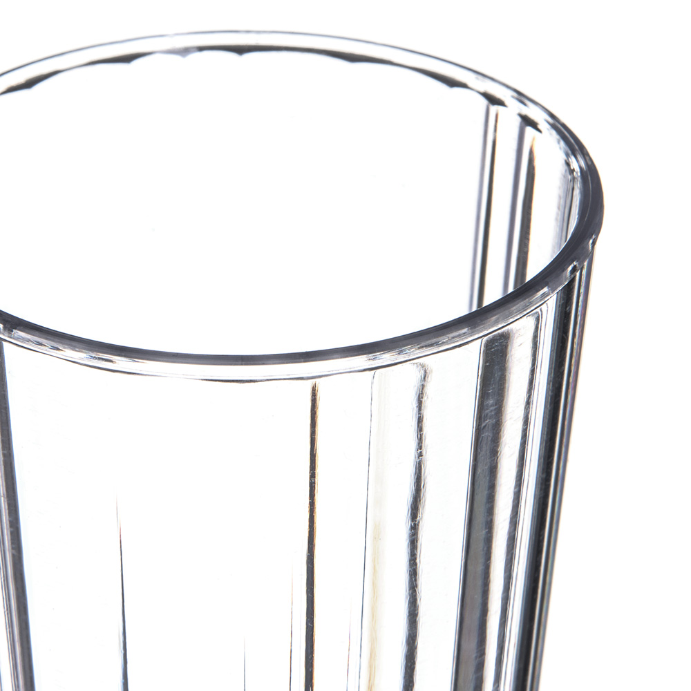 Carlisle 4363307 8-oz Fluted Tumbler w/ Slotted Base, Polycarbonate, Clear