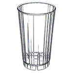 Carlisle 4363607 12-oz Fluted Tumbler w/ Slotted Base, Polycarbonate, Clear