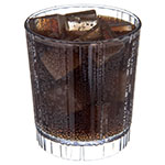 Carlisle 4363707 12-oz Fluted Old Fashioned Tumbler w/ Slotted Base, Polycarbonate, Clear