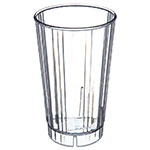 Carlisle 4363807 16-oz Fluted Tumbler w/ Slotted Base, Polycarbonate, Clear
