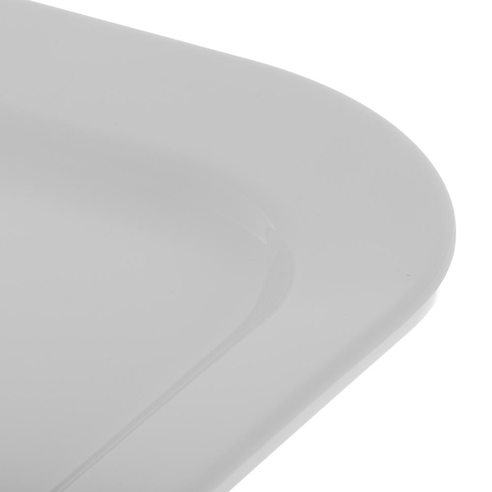 """Carlisle 4377202 Rectangular Platter - 15.5"""" x 10.5"""", Melamine, White"""