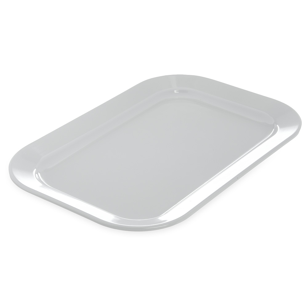 """Carlisle 4377202 Rectangular Platter - 15-1/2x10-1/2"""" Melamine, White"""