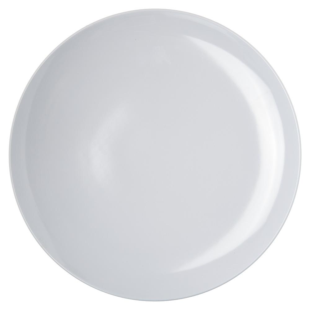 "Carlisle 4380002 12"" Epicure Buffett/Pizza Plate - Melamine, White"