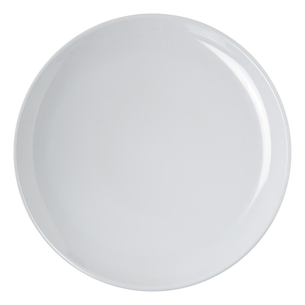 "Carlisle 4380102 10"" Round Coupe Dinner Plate, Melamine, White"