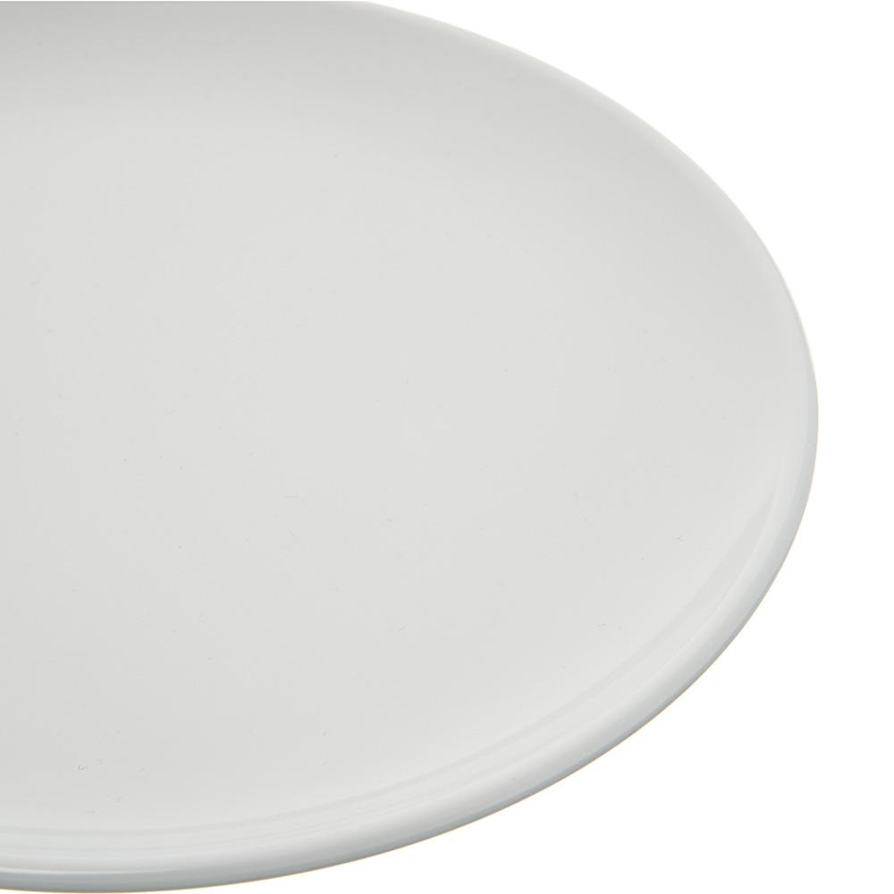 "Carlisle 4380302 8"" Round Coupe Dinner Plate, Melamine, White"