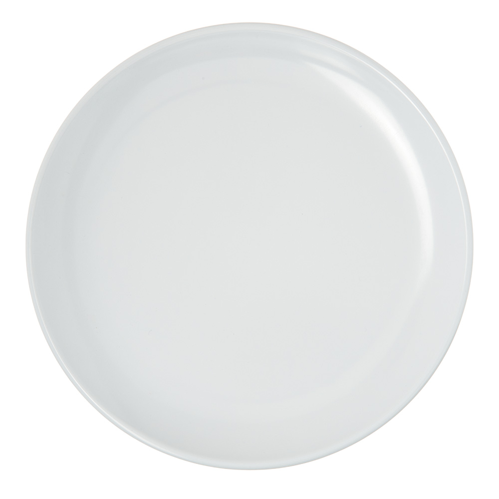 """Carlisle 4380302 8"""" Epicure Dinner Plate - Melamine, White"""