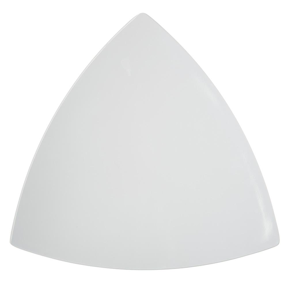 "Carlisle 4380602 11"" TriArc Triangular Plate - Melamine, White"