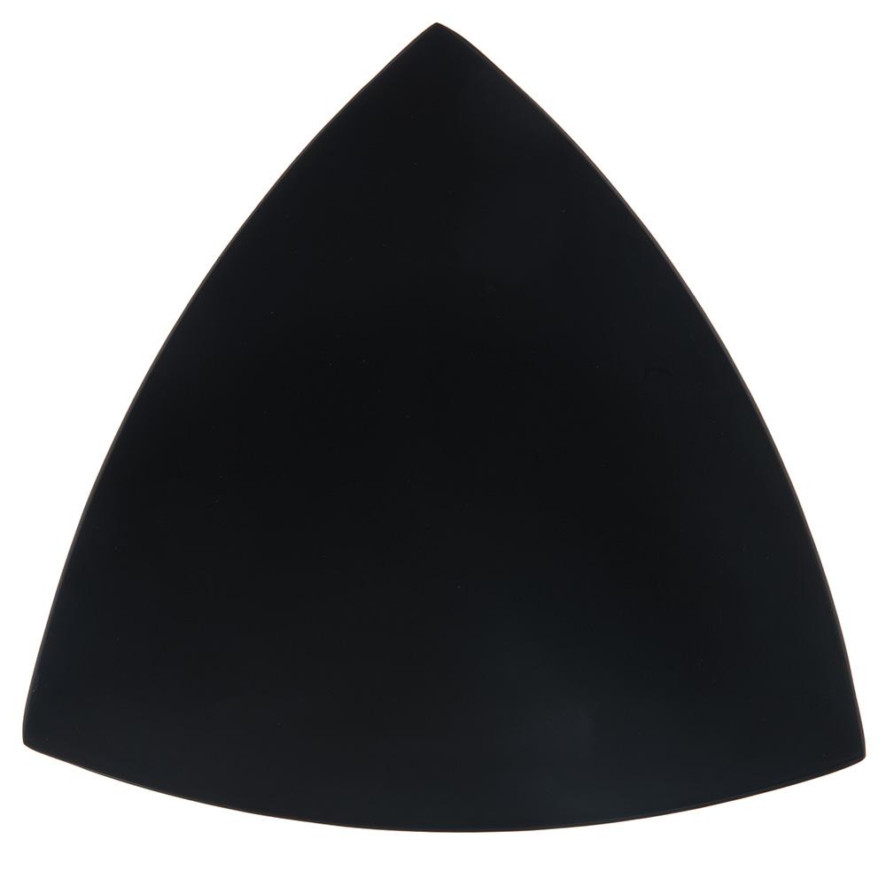"Carlisle 4380603 11"" TriArc Triangular Plate - Melamine, Black"