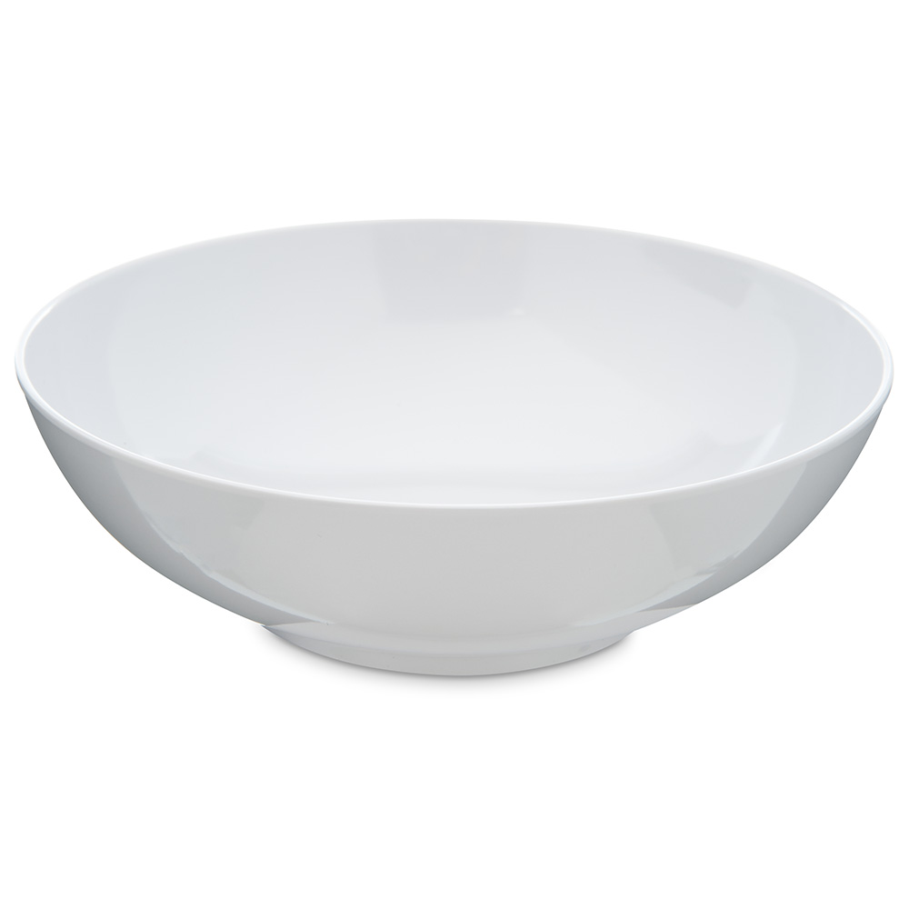 Carlisle 4381302 40-oz Salad/Serving Bowl - Melamine, White