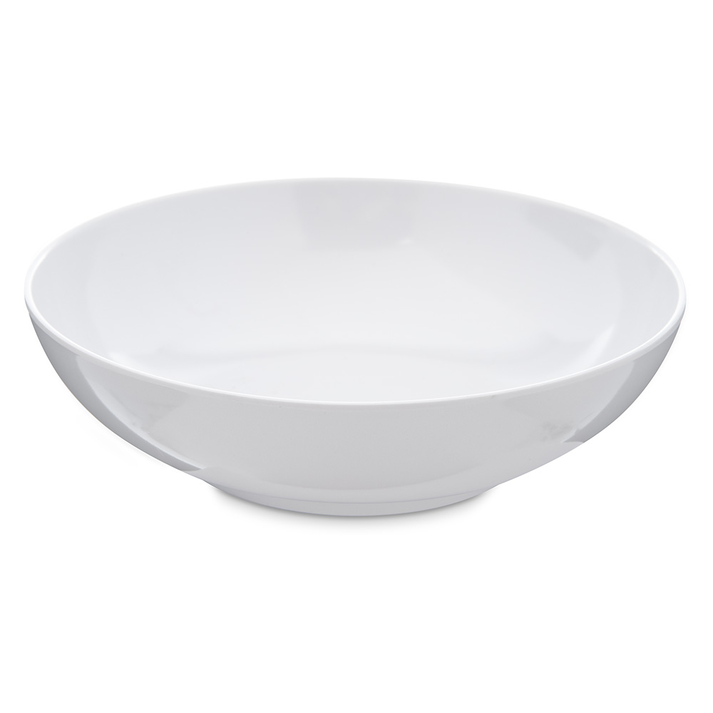 Carlisle 4381402 20-oz Salad/Serving Bowl - Melamine, White