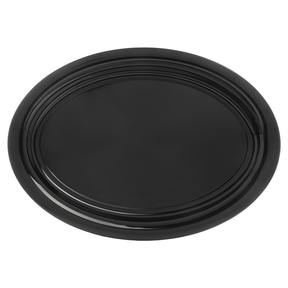 "Carlisle 4384003 Oval Catering Platter - 21x15"" Melamine, Black"
