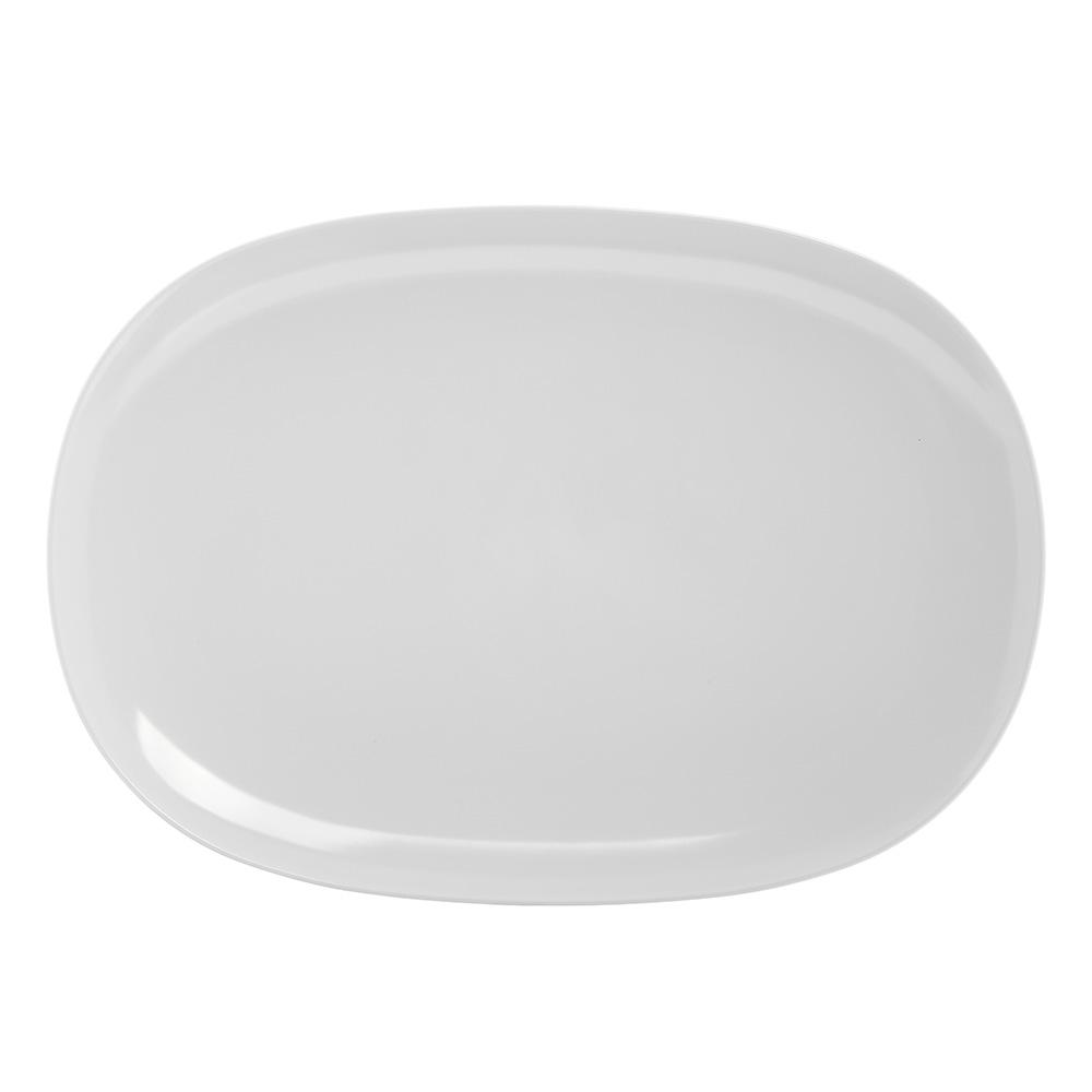 """Carlisle 4384202 Oblong Platter - 14x10"""" Melamine, White"""