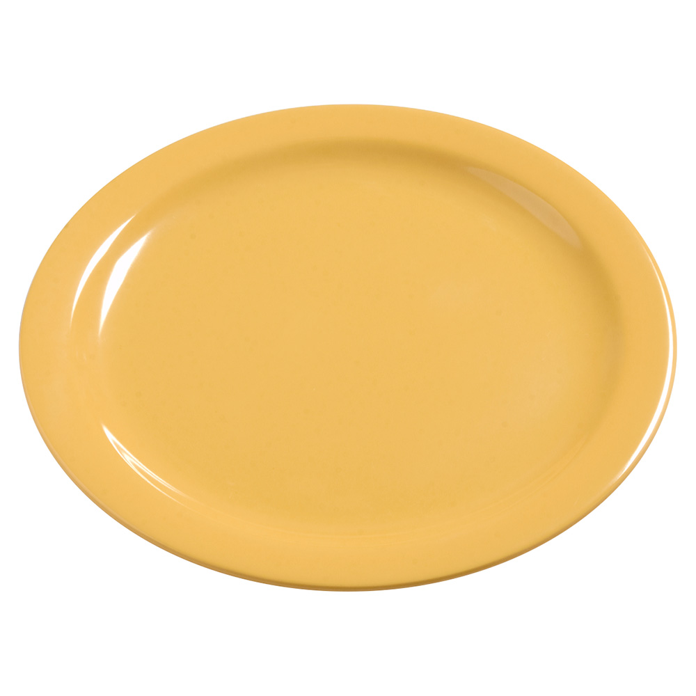 "Carlisle 4385022 10.25"" Round Dinner Plate, Melamine, Honey Yellow"