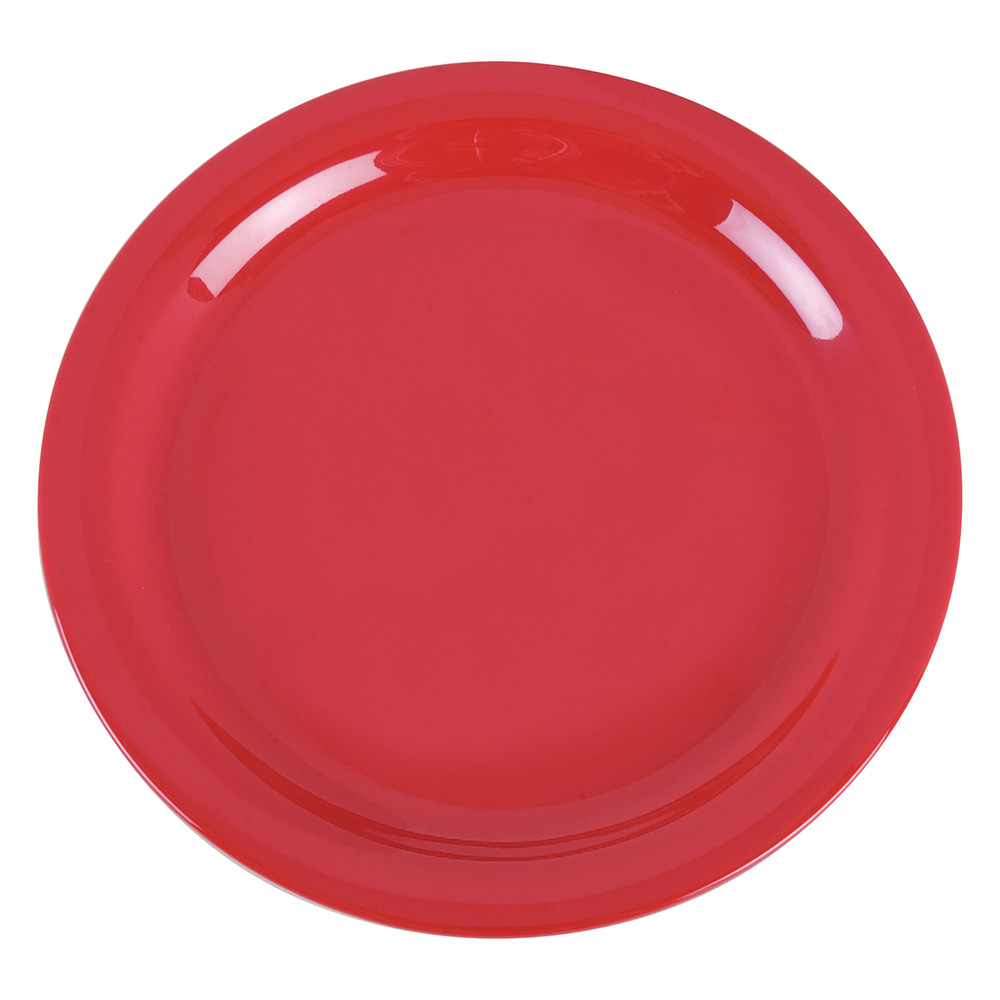 "Carlisle 4385205 9"" Dayton Dinner Plate - Red"