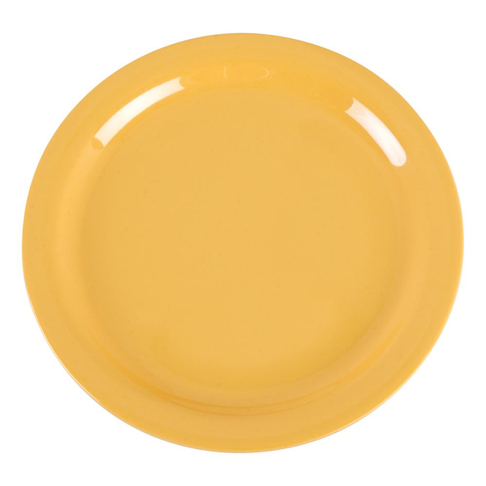 "Carlisle 4385222 9"" Dayton Dinner Plate - Honey Yellow"