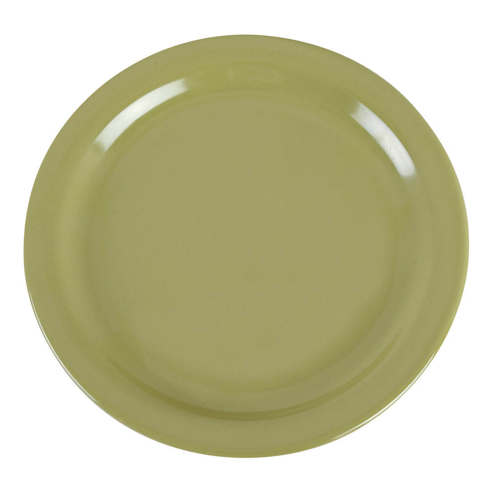 "Carlisle 4385282 9"" Round Dinner Plate, Melamine, Wasabi"