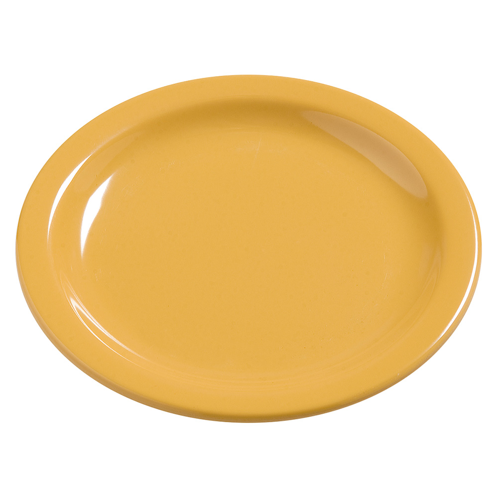 "Carlisle 4385422 7-1/4"" Dayton Dinner Plate - Honey Yellow"