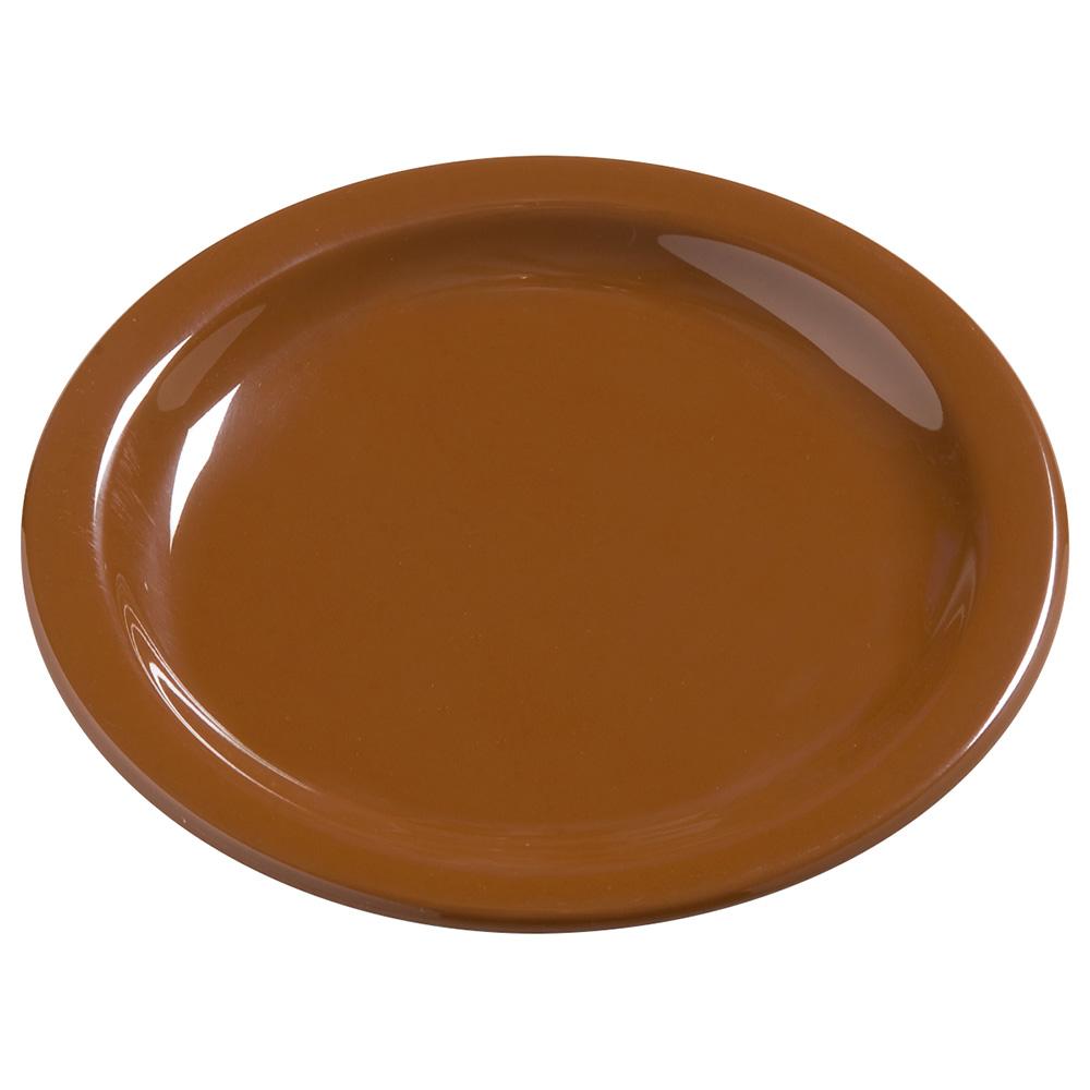 "Carlisle 4385443 7.25"" Round Dinner Plate, Melamine, Toffee"