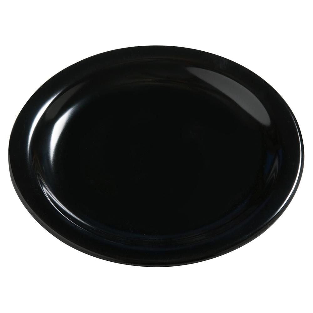 "Carlisle 4385603 5.625"" Round Bread & Butter Plate, Melamine, Black"