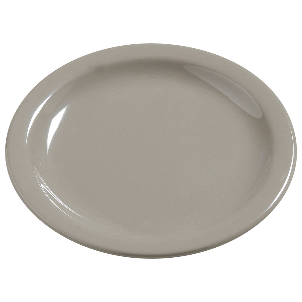 "Carlisle 4385631 5.625"" Round Bread & Butter Plate, Melamine, Truffle"